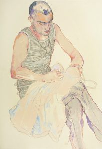 Richard (Striped T-shirt – sewing), 2010