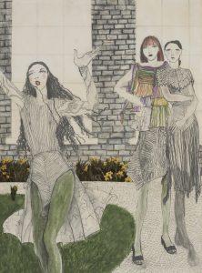 Three Figures in a Garden, 1970-74