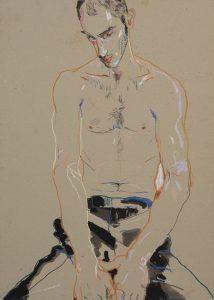 Fabio (Sitting, Hands on Legs), 1996