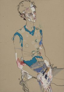 George O (Sitting, Turning Away), 1998