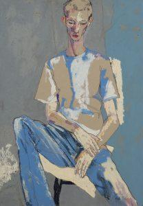 George O (Sitting, All Blue), 1998-99