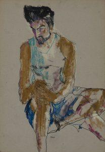 Asad (Sittng, hands on knee), 2015-16